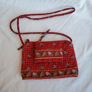 Vera Bradley red quilted purse and coin purse